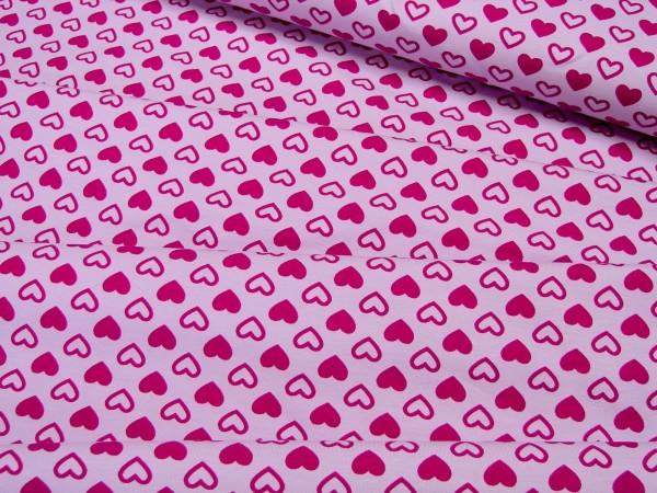 Jersey Little Darling rote Herzen auf rosa
