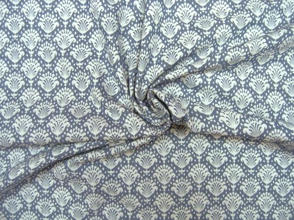 Baumwollstoff Jeans Optik Ornamente