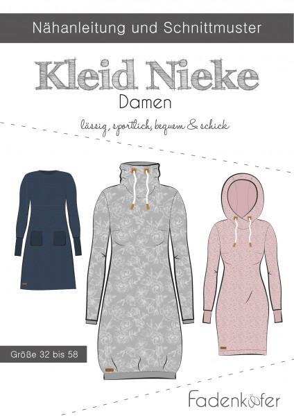 Kleid Nieke Damen,Papierschnitt,Fadenkäfer,Deckblatt mit Skizzen