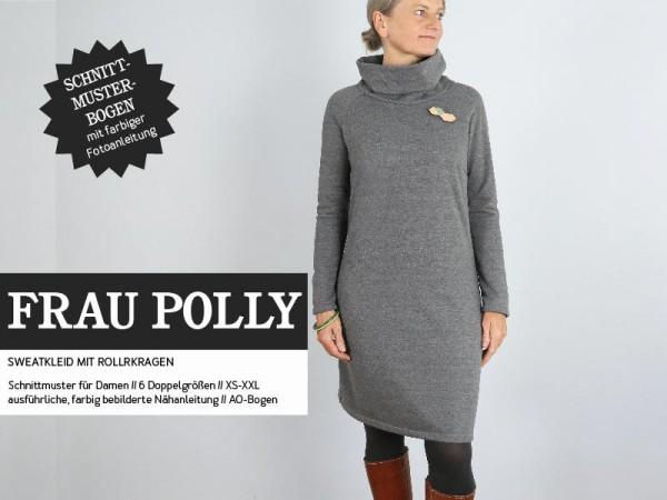 FRAU POLLY • Sweatkleid mit Rollkragen, Papierschnitt, Deckblatt
