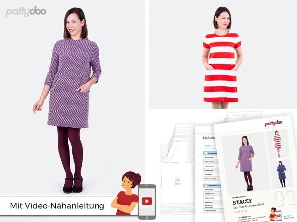 A-Linien-Kleid Stacey • Papierschnittmuster • by Pattydoo