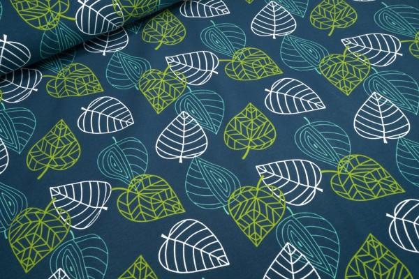 Jersey Leaves Blätter auf admiralblau