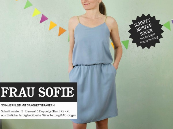 FRAU SOFIE • Kleid Spaghettiträger, Papierschnitt, Deckblatt