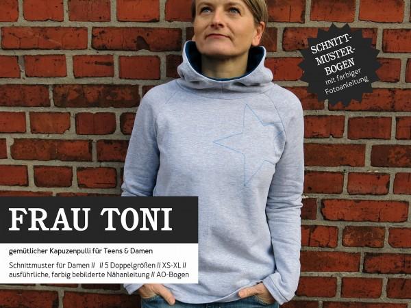 FRAU TONI • Kapuzensweater, Papierschnitt, Deckblatt