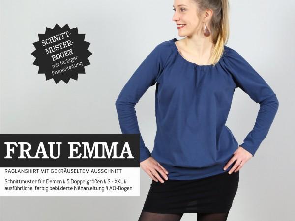 FRAU EMMA • Raglanshirt, Papierschnitt, Deckblatt