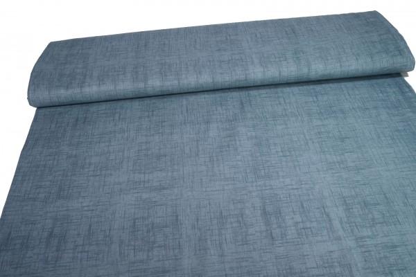 Baumwollstoff Druck graublau