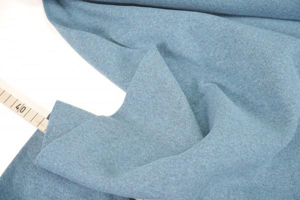 Strickstoff Bene • angeraut • uni • rauchblau • made in Italy
