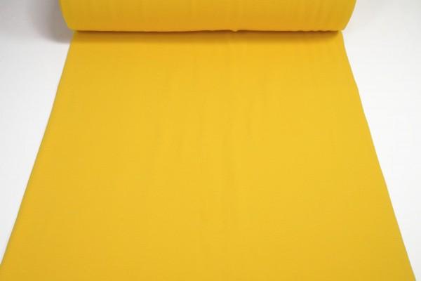 Bündchen glatt uni dunkel gelb