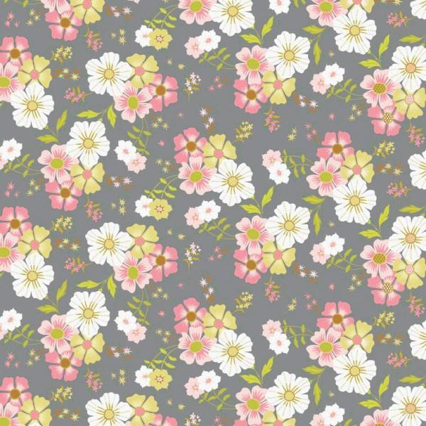 Blend Fabrics • Pippa • Shade garden grau Baumwollstoff