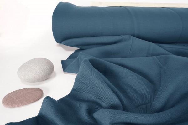 Baumwoll Bio schwerer Jersey uni Dusty Blue by Bloome Copenhagen
