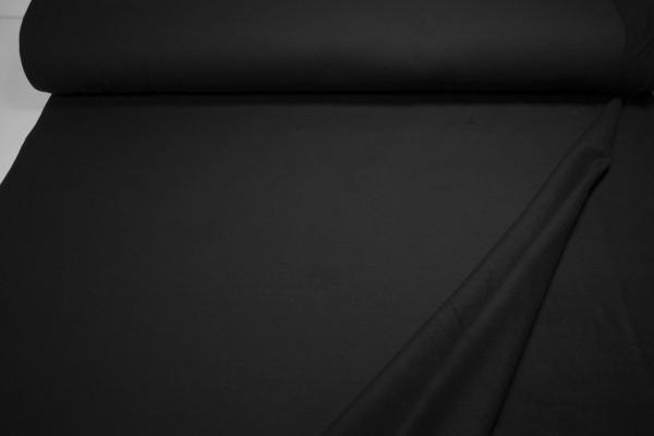 Sweatshirt Stoff schwarz uni