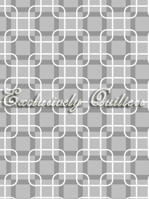 Exclusively Quilters • Rubies • grau Baumwollstoff