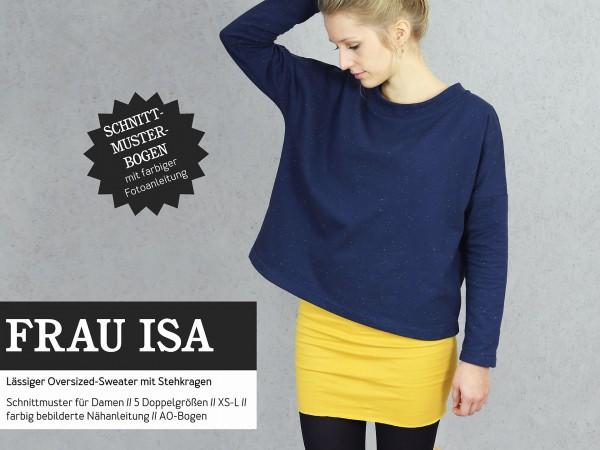 FRAU ISA • Oversized Sweater, Papierschnitt, Deckblatt
