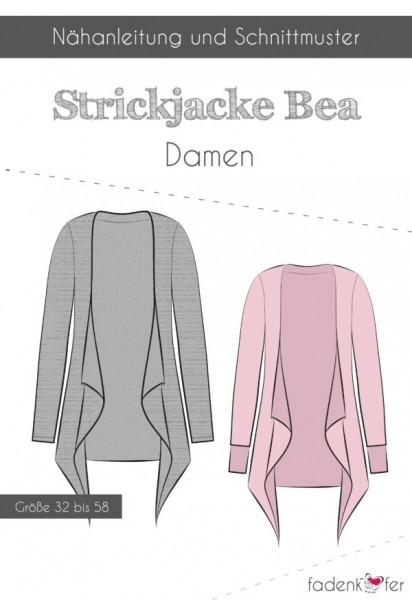 Strickjacke Bea Damen,Papierschnitt,Fadenkäfer,Deckblatt mit Skizzen