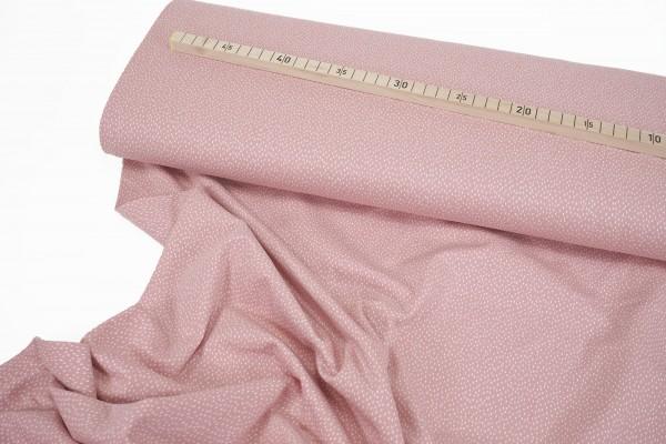 Baumwolljersey • Mini Striche • weiß auf rosé • Stenzo