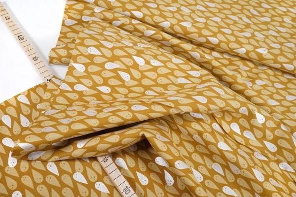Cotton+Steel • BOO! Ghosties • Mustard • silbermetalic