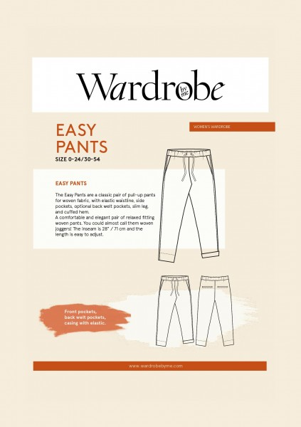 Easy Pants,Papierschnitt,Wardrobe by me,Deckblatt