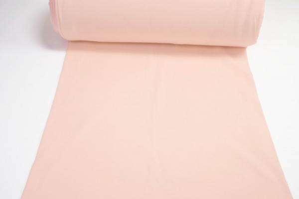Bündchen glatt uni hell pastell rosa