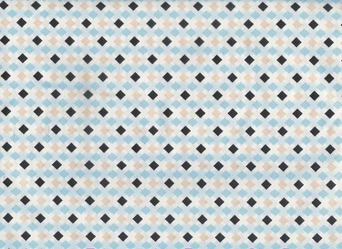 Exclusively Quilters • Melodies • Raute hellblau Baumwollstoff