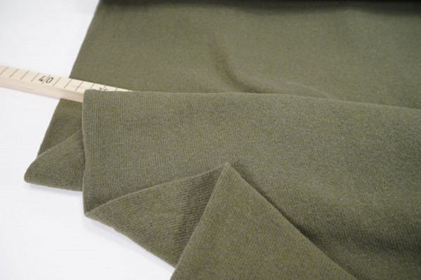 Strickstoff Bene • angeraut • uni • khaki • made in Italy