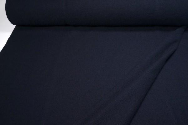 Gekochte Wolle Viskose Walkloden dunkelblau