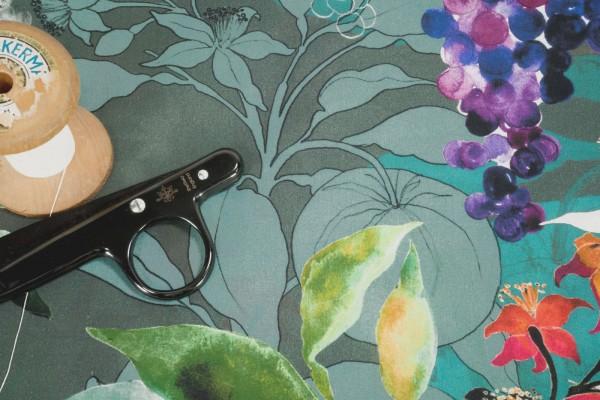 BIO Baumwollstoff C. Pauli Cotton Lawn Fruit Garden