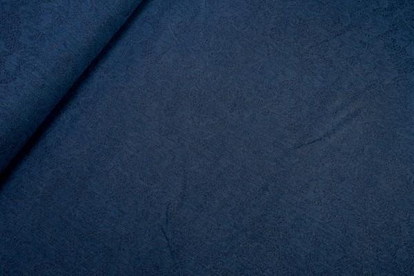 Stretchjeans Stoff Rosenmuster denim dunkel blau