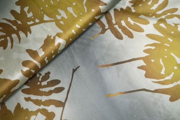 Baumwoll Seidenmischung Blumendruck