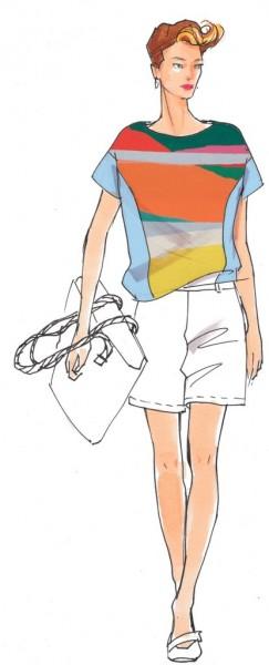 Shirt Baiba Damen, Papierschnitt