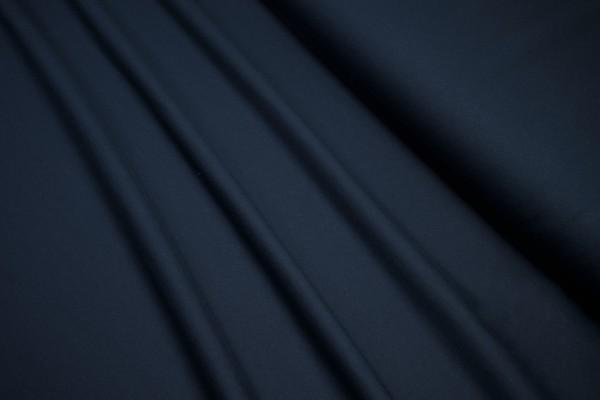 Baumwoll French Terry Uni dunkelblau soft unaufgeraut