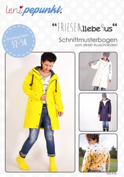 106 FRIESEN.LIEBE4US,Papierschnitt,Leni Pepunkt,Deckblatt mit Beispielbildern von Frauen in Regenjacke
