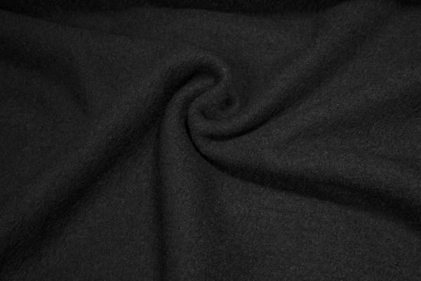 Gekochte Wolle Viskose Walkloden schwarz
