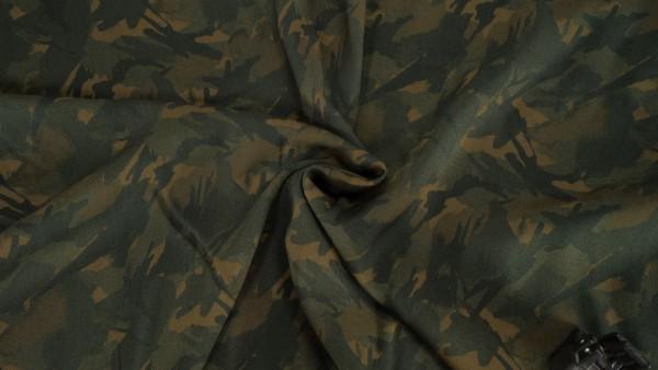 Viskose Camouflage Print