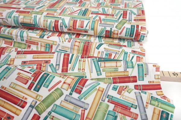 Windham Fabrics • Purrfect Day • Cat Stories white • by Terri Degenkolb