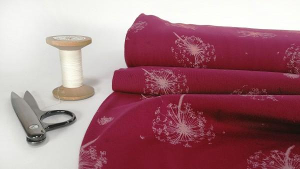 Baumwoll Jersey Pusteblume rosa auf pink
