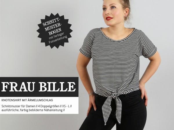 FRAU BILLE • lässiges Knotenshirt, Papierschnitt, Deckblatt