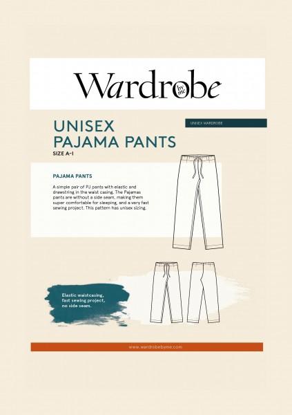 Pajama Pants unisex, Papierschnitt,Wardrobe by me,Deckblatt