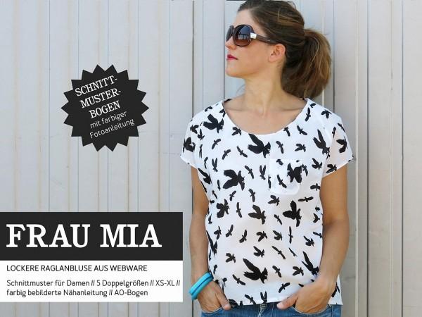 FRAU MIA • Bluse Raglanoptik, Papierschnitt, Deckblatt