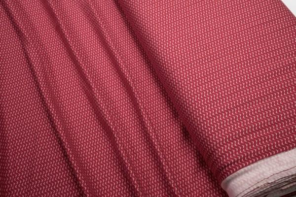 Baumwoll Jersey weiße Pfeilspitzen auf rot