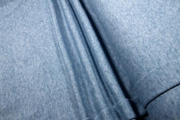 Feinstrick Viskose Interlock hellblau melange