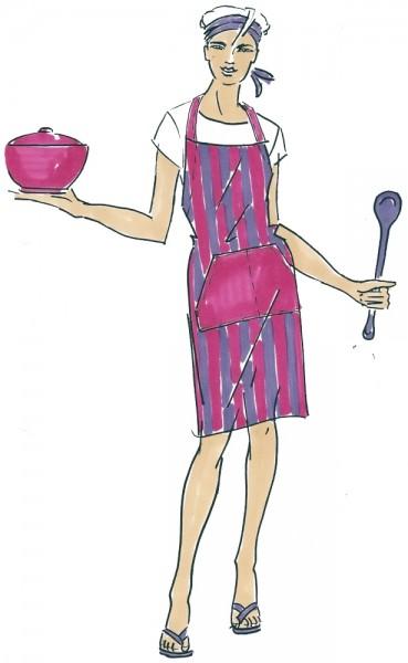 Kochschürze Cook, Papierschnitt