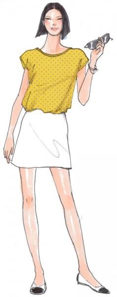Sommershirt Anna • Damen • Papierschnittmuster