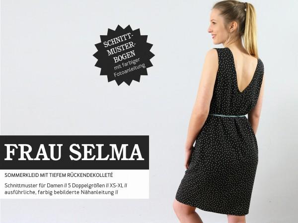 FRAU SELMA • Kleid Rückendekolletée, Papierschnitt, Deckblatt