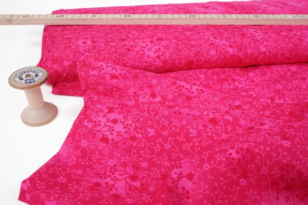 Baumwollstoff Ranken pink rosa