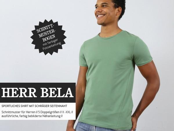 HERR BELA • Shirt schräge Seitennaht, Papierschnitt, Deckblatt