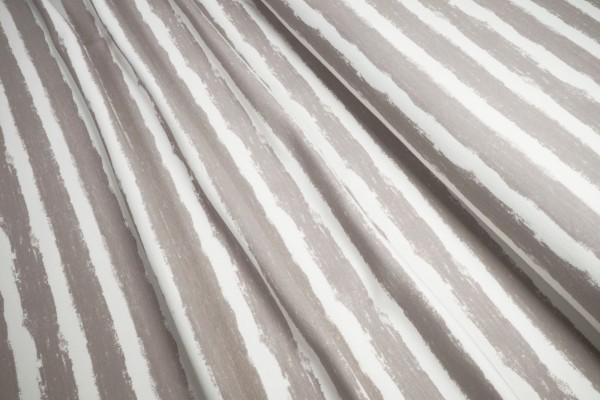 BIO-Sweat French Terry Stoffonkel aufgeraut Mellow Stripes steingrau