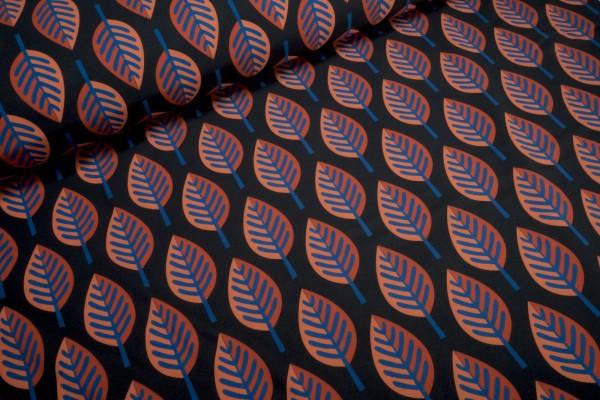 Softshell Hamburger Liebe Herbst Blätter auf schwarz Digital Druck