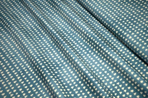 Moda Wintertide Mini Evergreen Tree Print blue shiver by Janet Clare