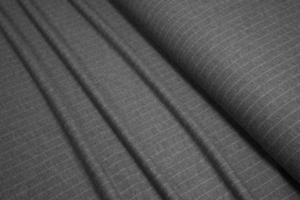 Feinstrick Viskose Nadelstreifen grau