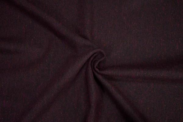 Leichter Woll Tweed dunkelrot melange